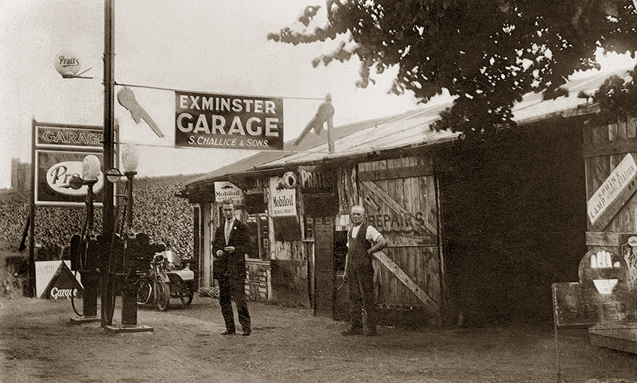 Exminster Garage in Exeter - History