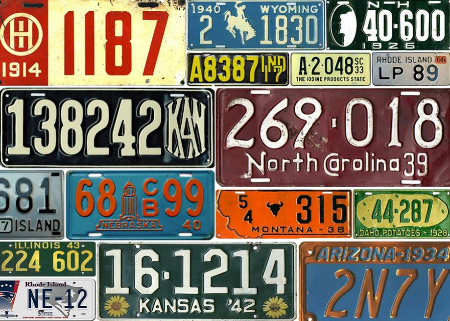 car registration plates